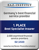 F.A.Z. - Institut - 1st Place Best Specialist Insurer - 01 | 2019