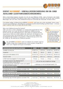 Unfallversicherung fürs Ausland Expat Accident