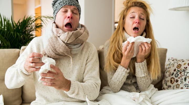 So lassen sich die Symptome von Erkältung, Grippe und